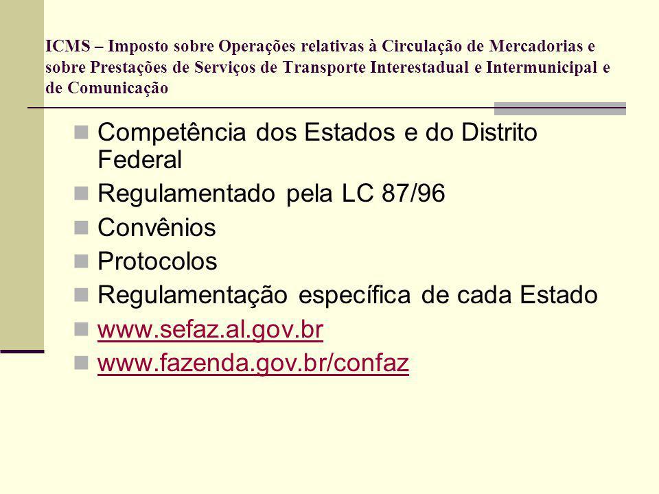 Competência dos Estados e do Distrito Federal