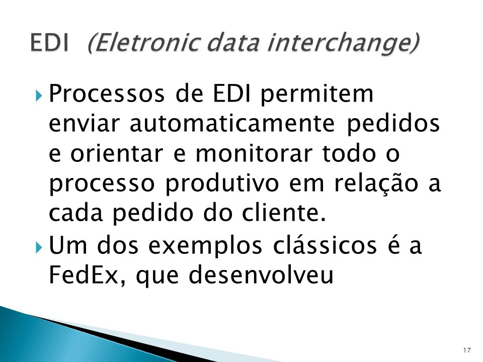 EDI (Eletronic data interchange)