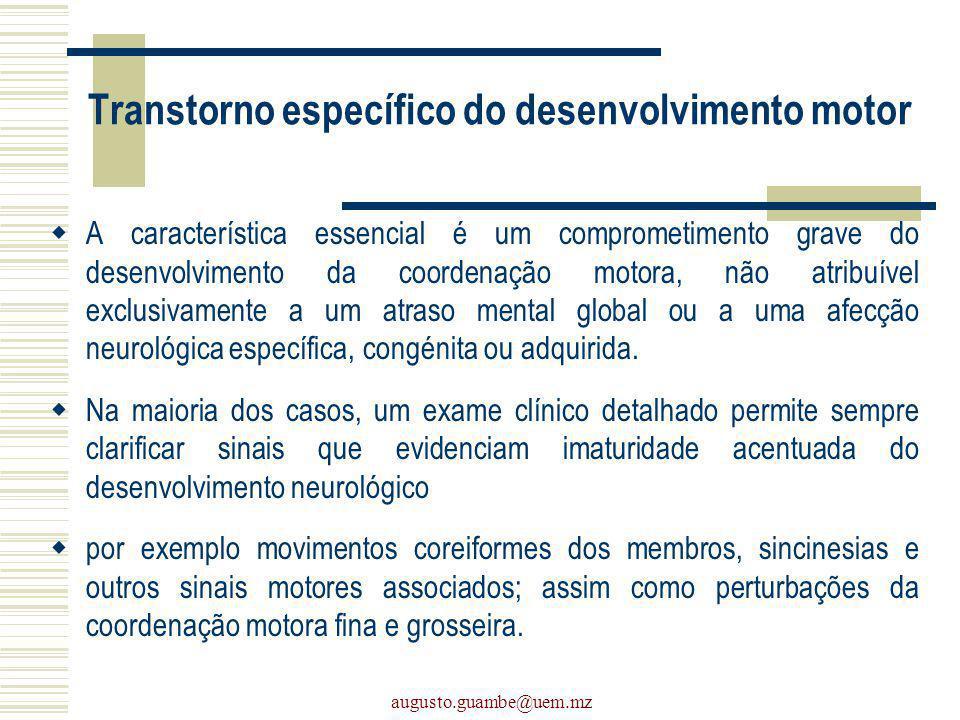 Transtorno específico do desenvolvimento motor