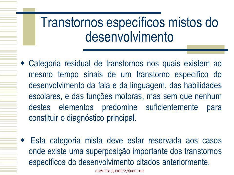 Transtornos específicos mistos do desenvolvimento