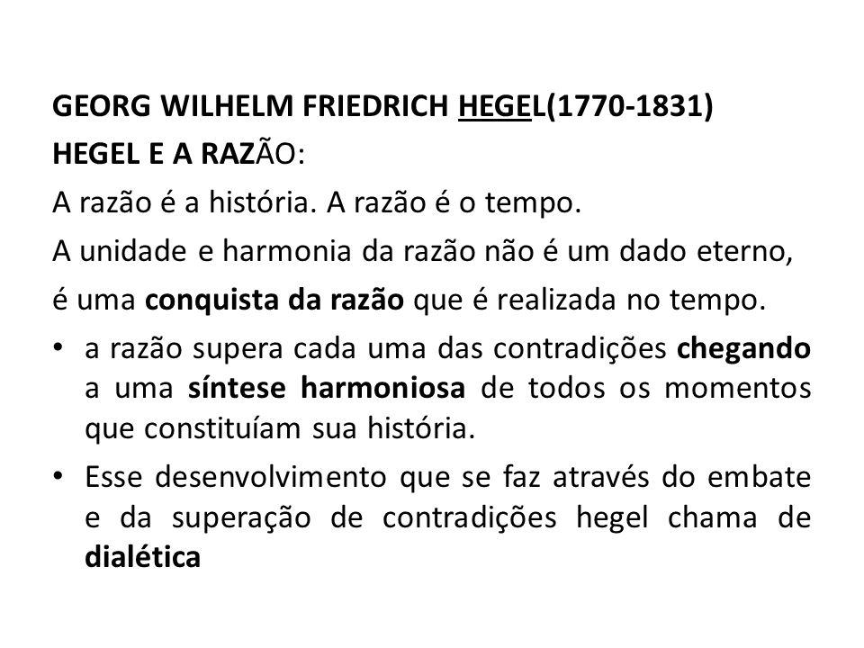 GEORG WILHELM FRIEDRICH HEGEL(1770-1831)