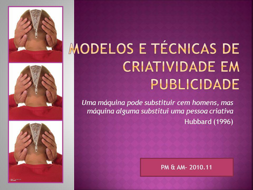 Modelos e Técnicas de Criatividade em publicidade