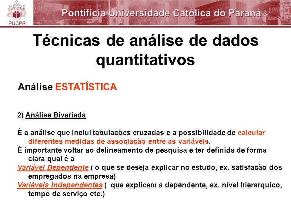 Técnicas de análise de dados quantitativos