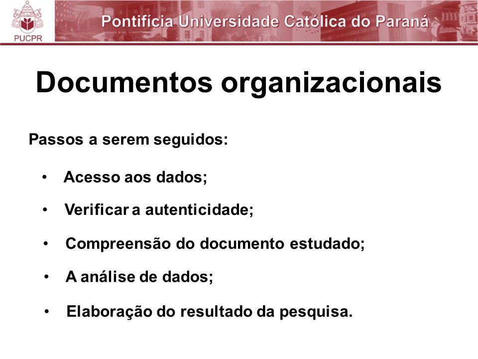 Documentos organizacionais