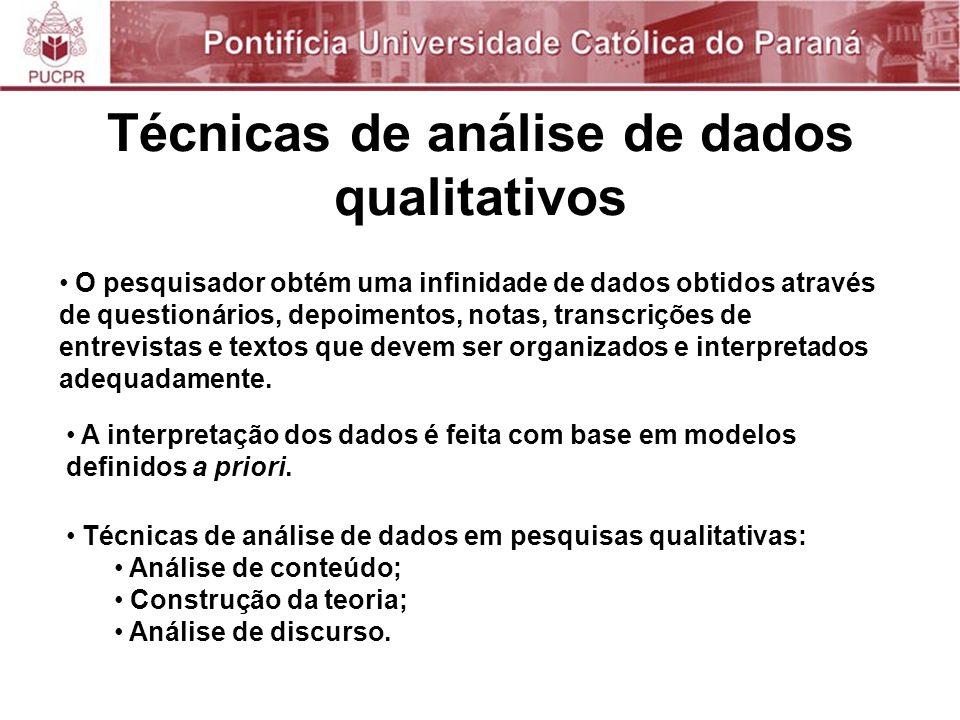 Técnicas de análise de dados qualitativos
