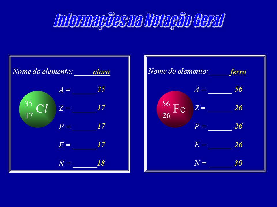 Informações na Notação Geral