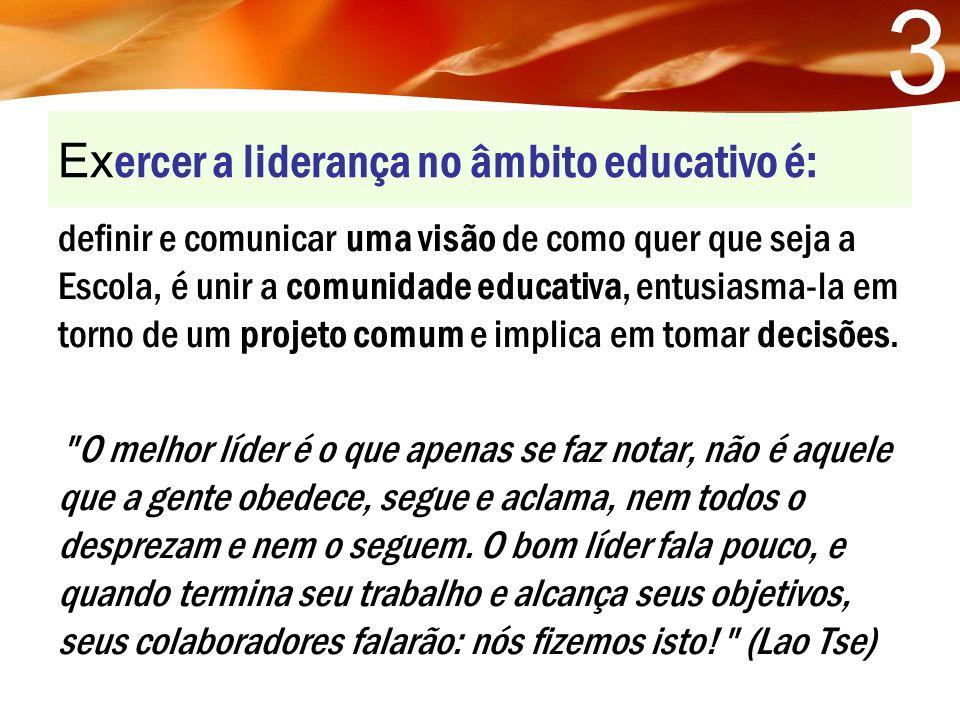 Exercer a liderança no âmbito educativo é: