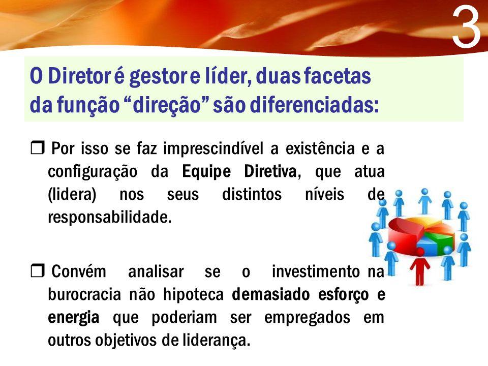 3 O Diretor é gestor e líder, duas facetas da função direção são diferenciadas: