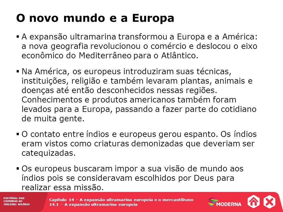 O novo mundo e a Europa