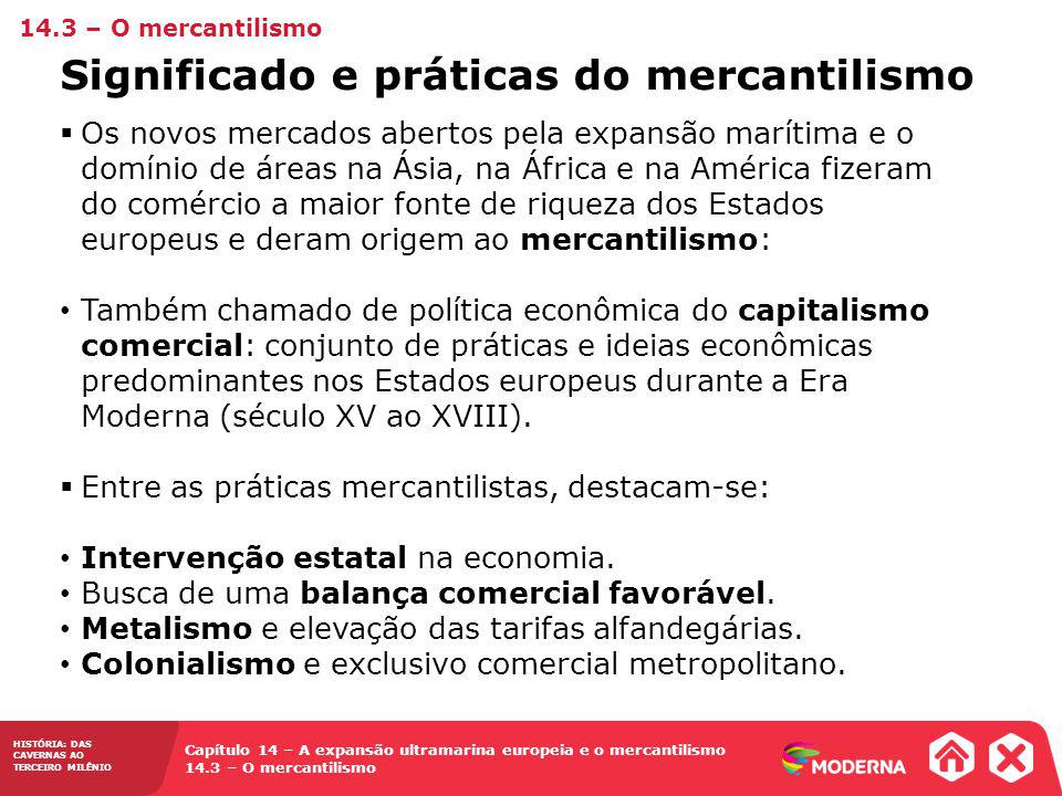 Significado e práticas do mercantilismo