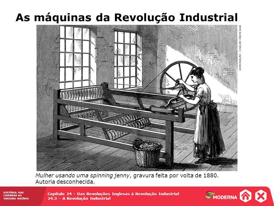 As máquinas da Revolução Industrial