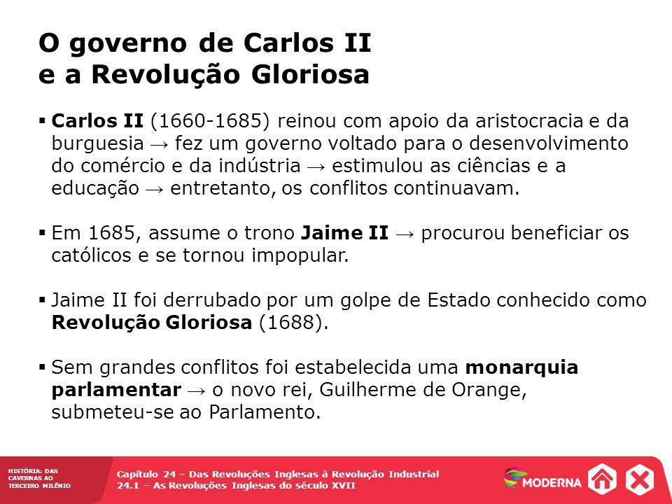 O governo de Carlos II e a Revolução Gloriosa