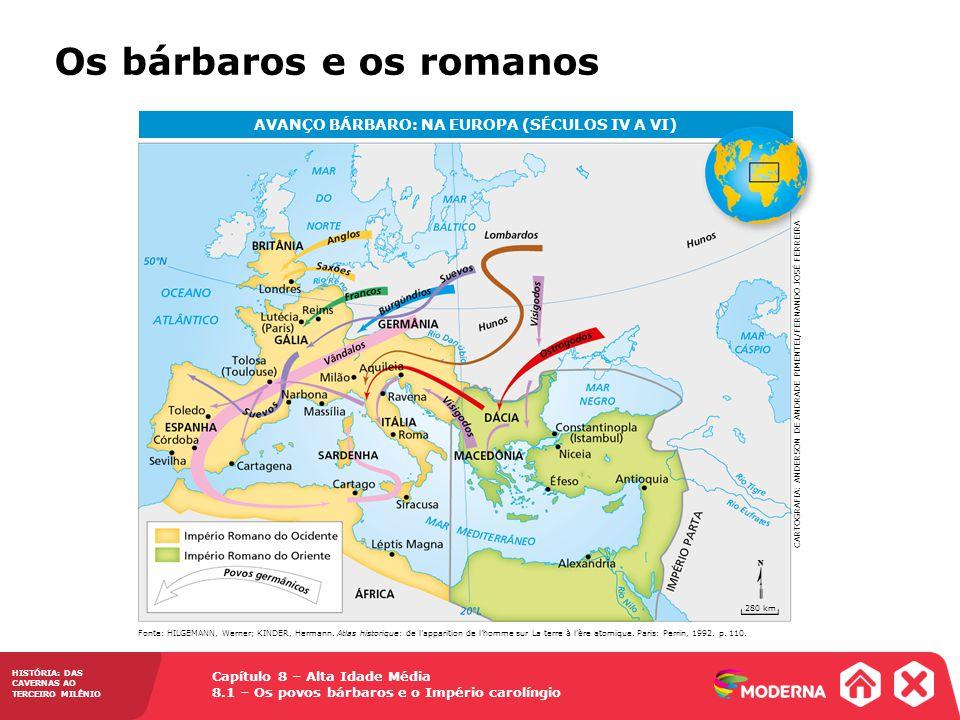 AVANÇO BÁRBARO: NA EUROPA (SÉCULOS IV A VI)