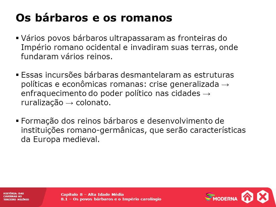 Os bárbaros e os romanos