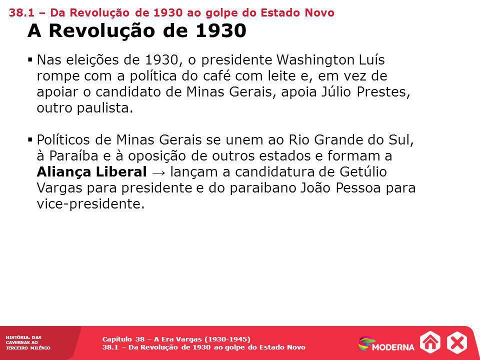 38.1 – Da Revolução de 1930 ao golpe do Estado Novo