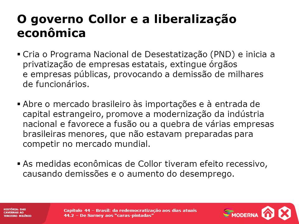 O governo Collor e a liberalização econômica