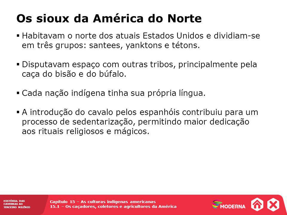 Os sioux da América do Norte