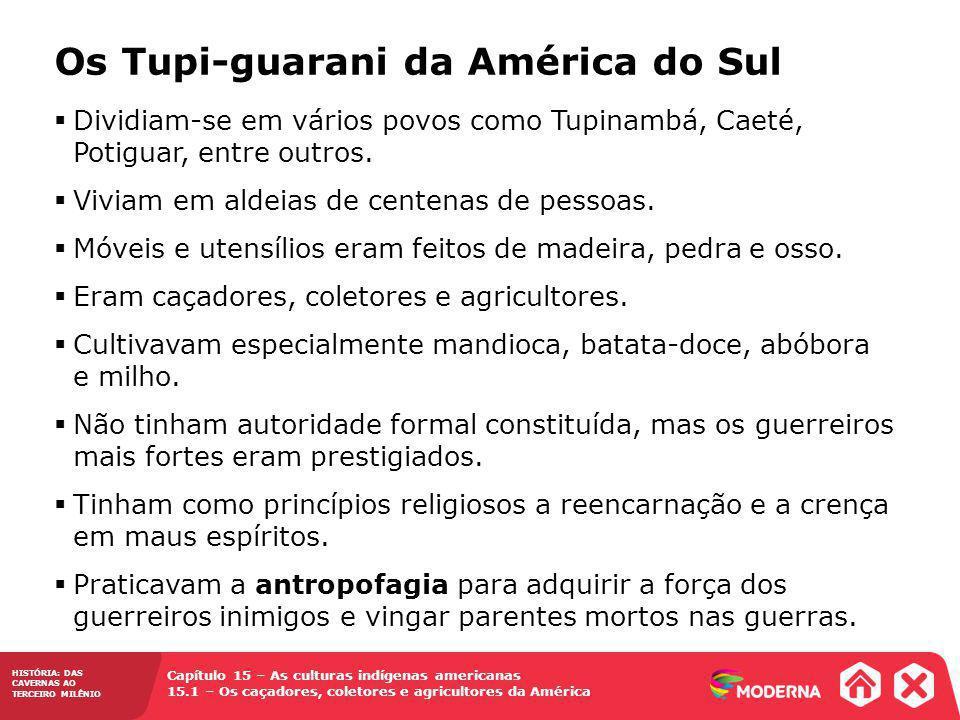 Os Tupi-guarani da América do Sul