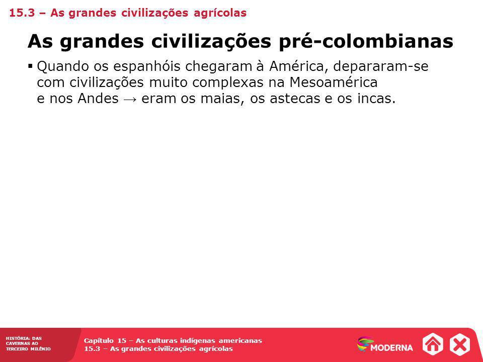 As grandes civilizações pré-colombianas