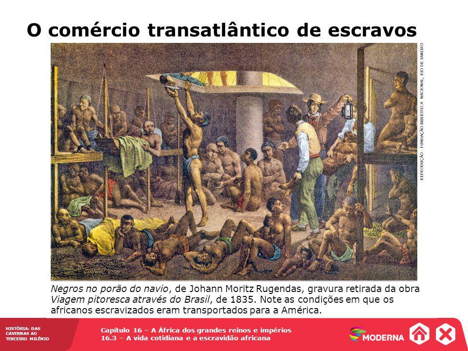 O comércio transatlântico de escravos