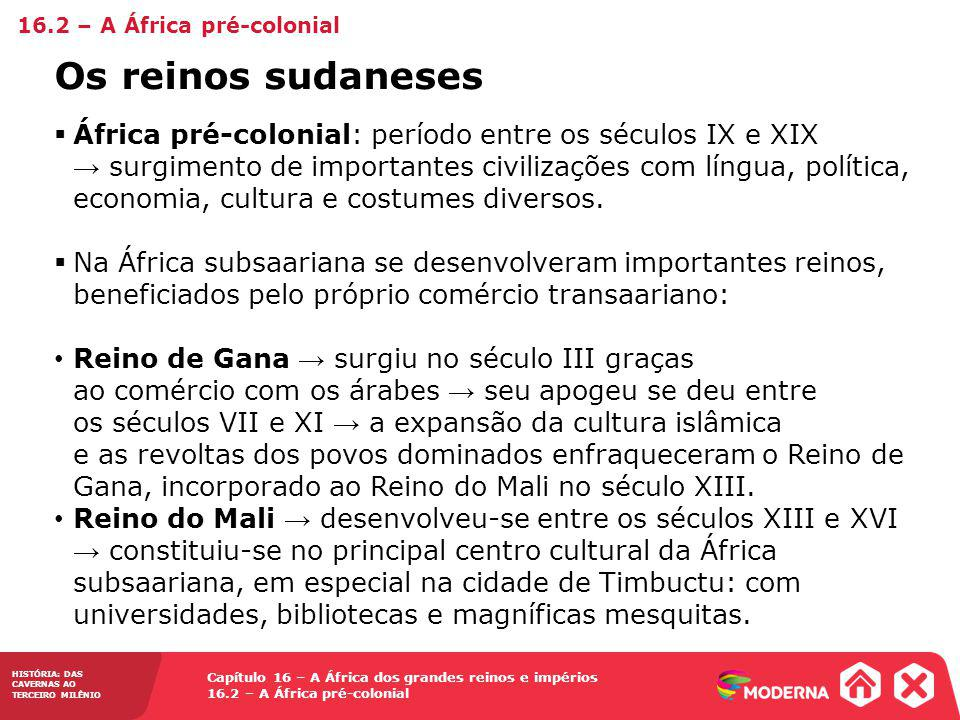 16.2 – A África pré-colonial