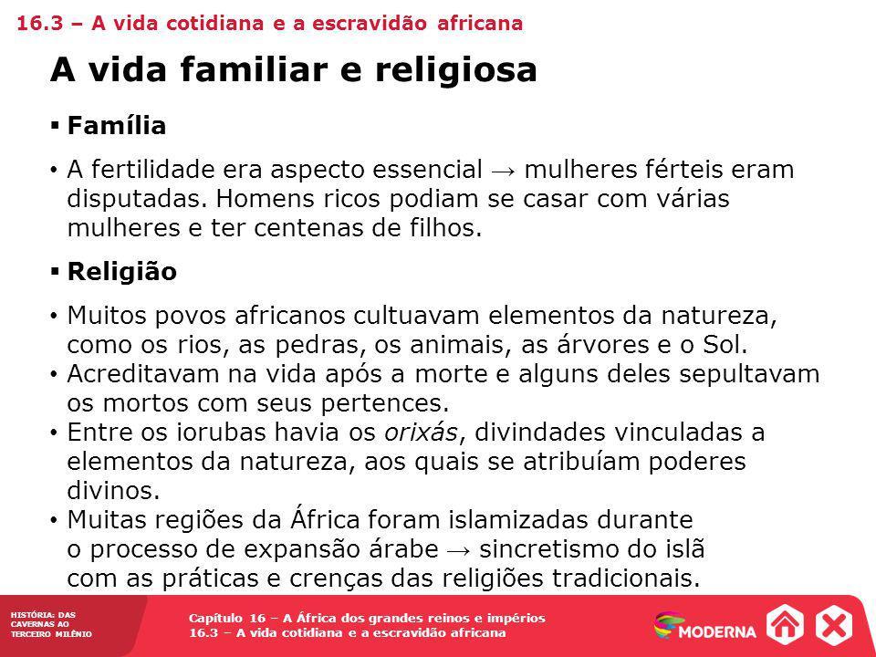 A vida familiar e religiosa