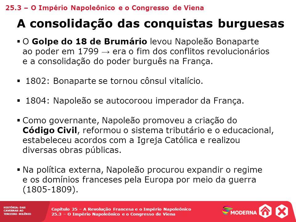 A consolidação das conquistas burguesas