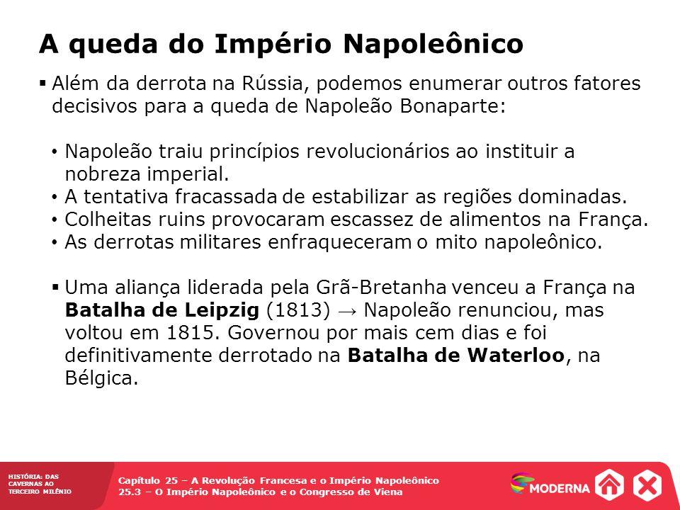 A queda do Império Napoleônico