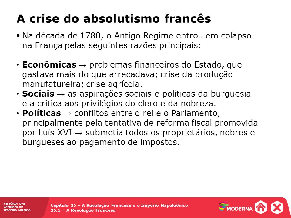 A crise do absolutismo francês