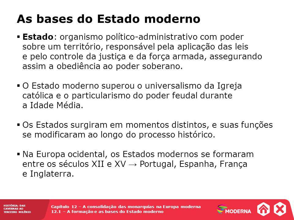 As bases do Estado moderno