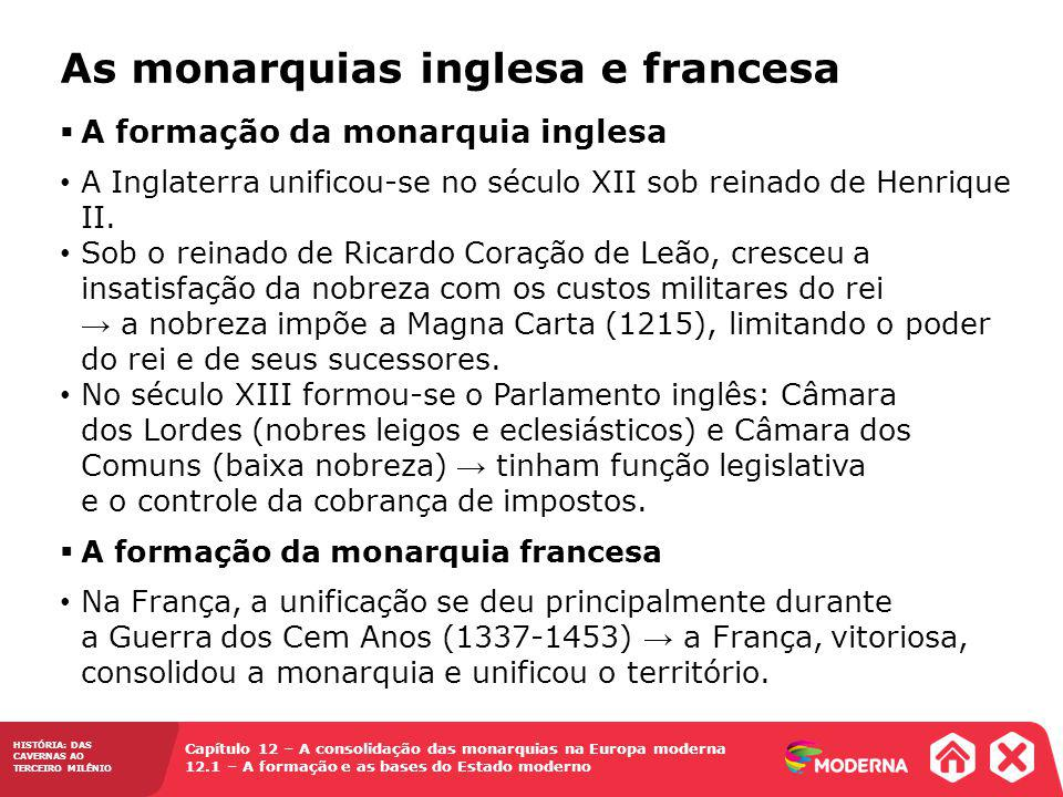 As monarquias inglesa e francesa