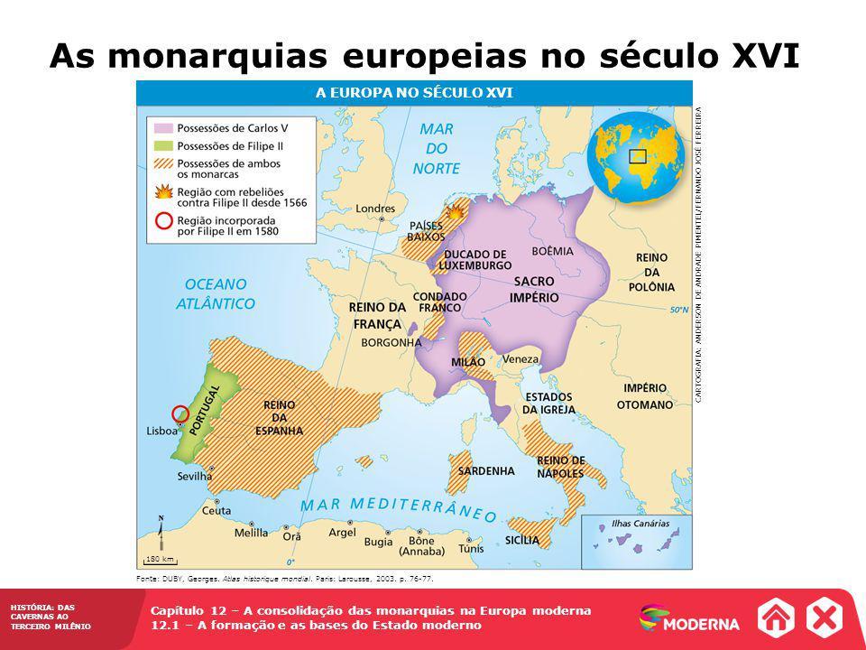 As monarquias europeias no século XVI