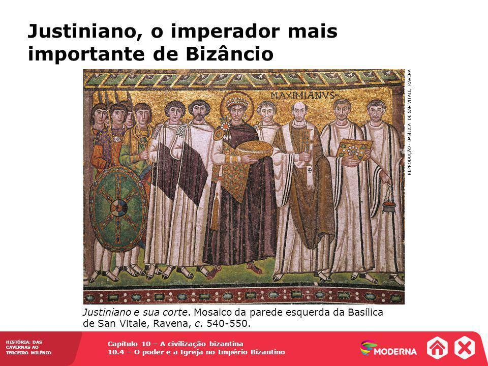 Justiniano, o imperador mais importante de Bizâncio