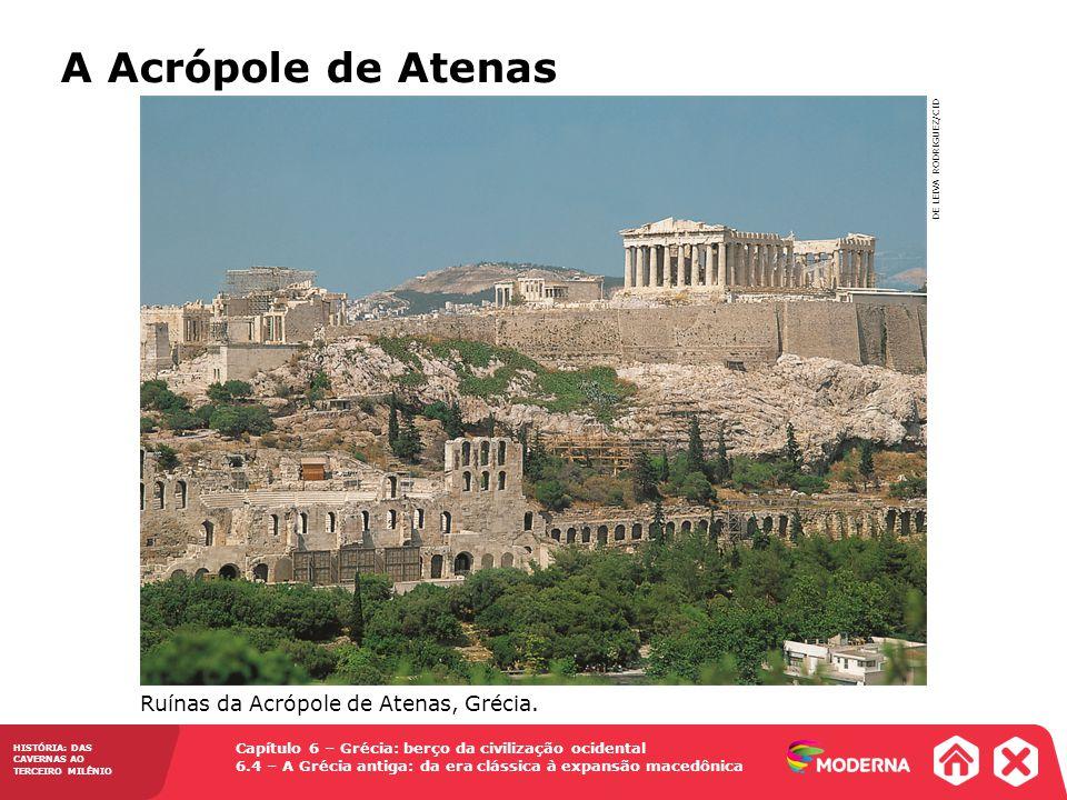 A Acrópole de Atenas Ruínas da Acrópole de Atenas, Grécia.