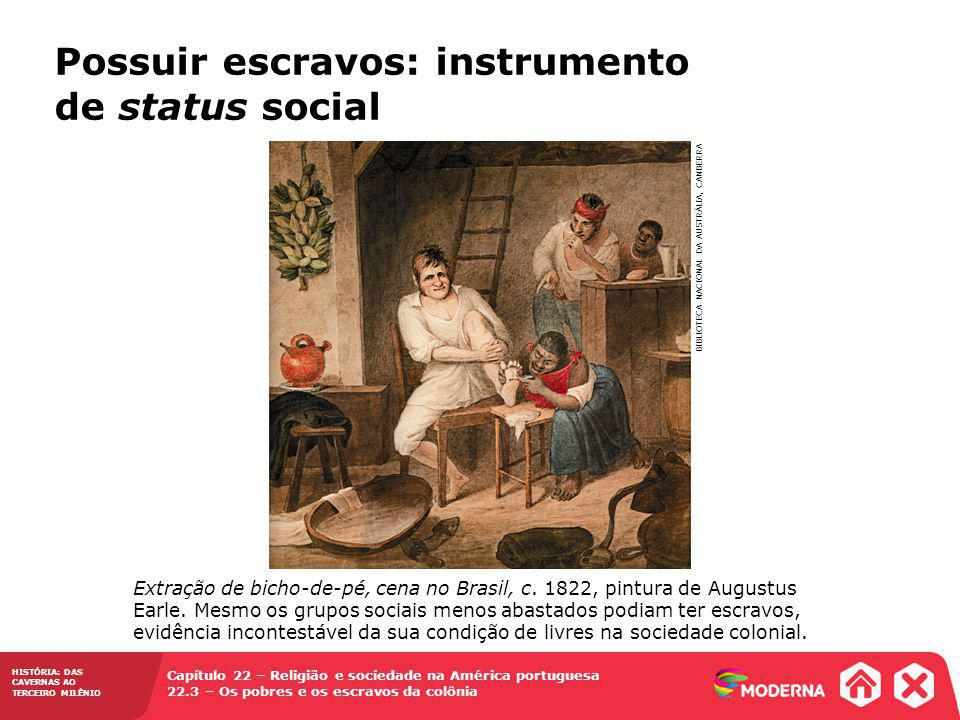 Possuir escravos: instrumento de status social