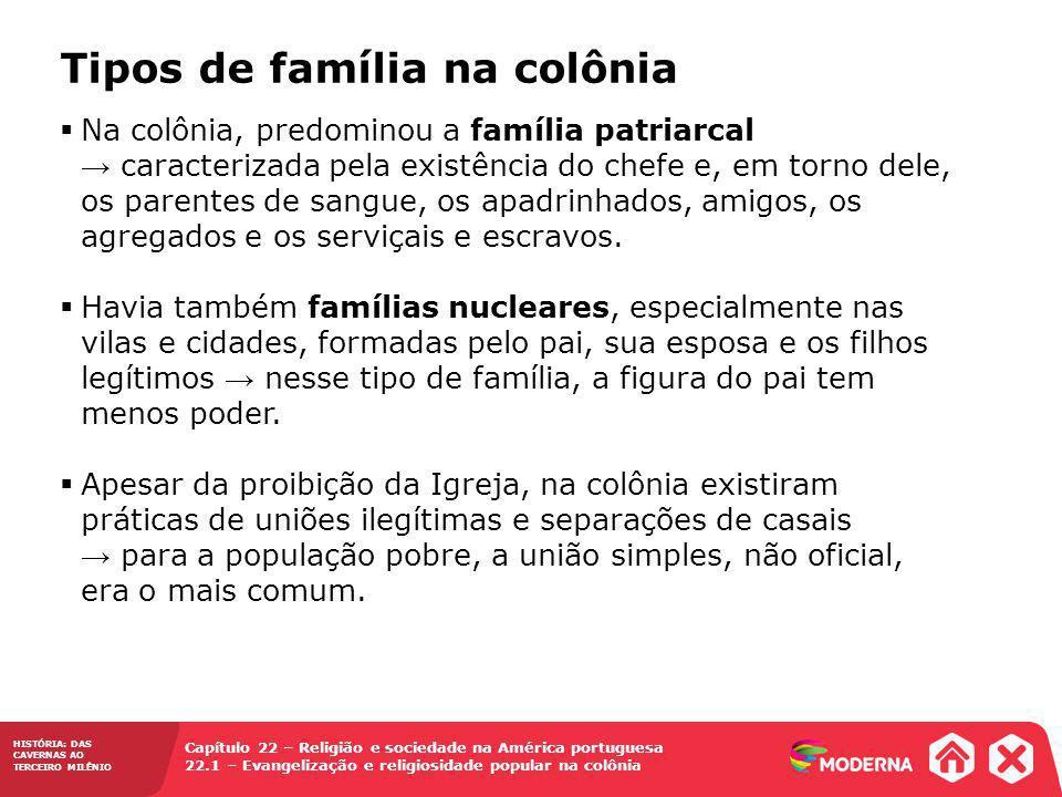 Tipos de família na colônia