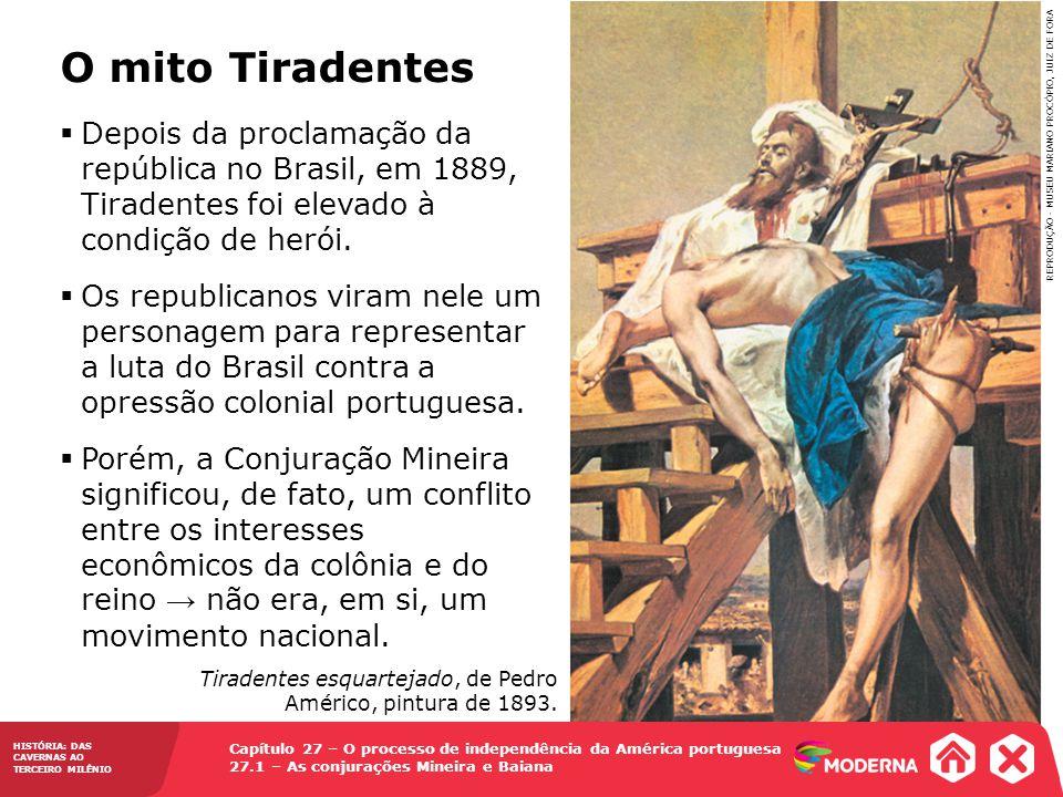 Tiradentes esquartejado, de Pedro Américo, pintura de 1893.
