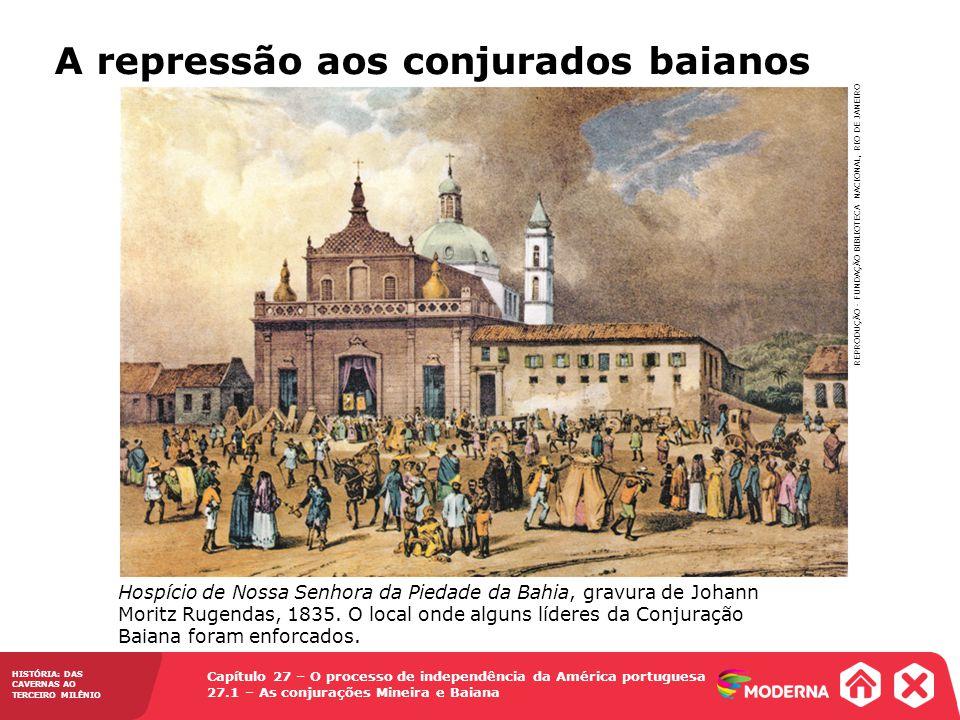 A repressão aos conjurados baianos