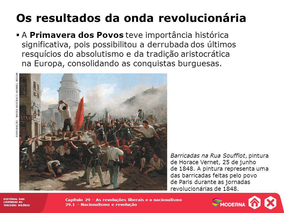 Os resultados da onda revolucionária