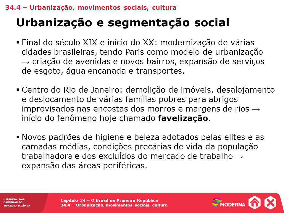 Urbanização e segmentação social