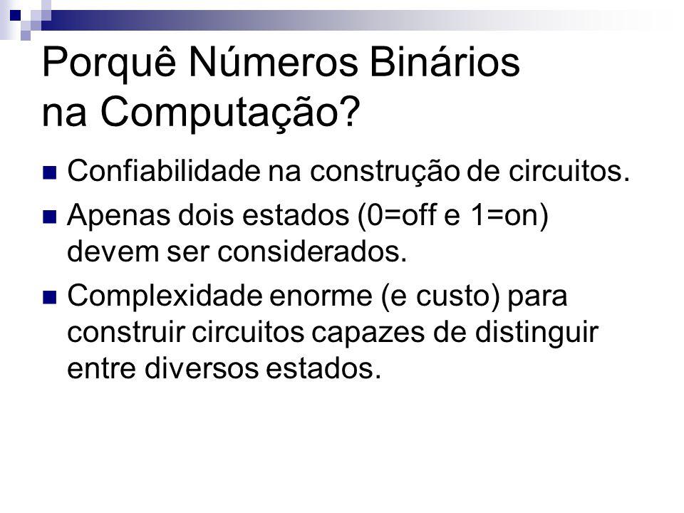 Porquê Números Binários na Computação
