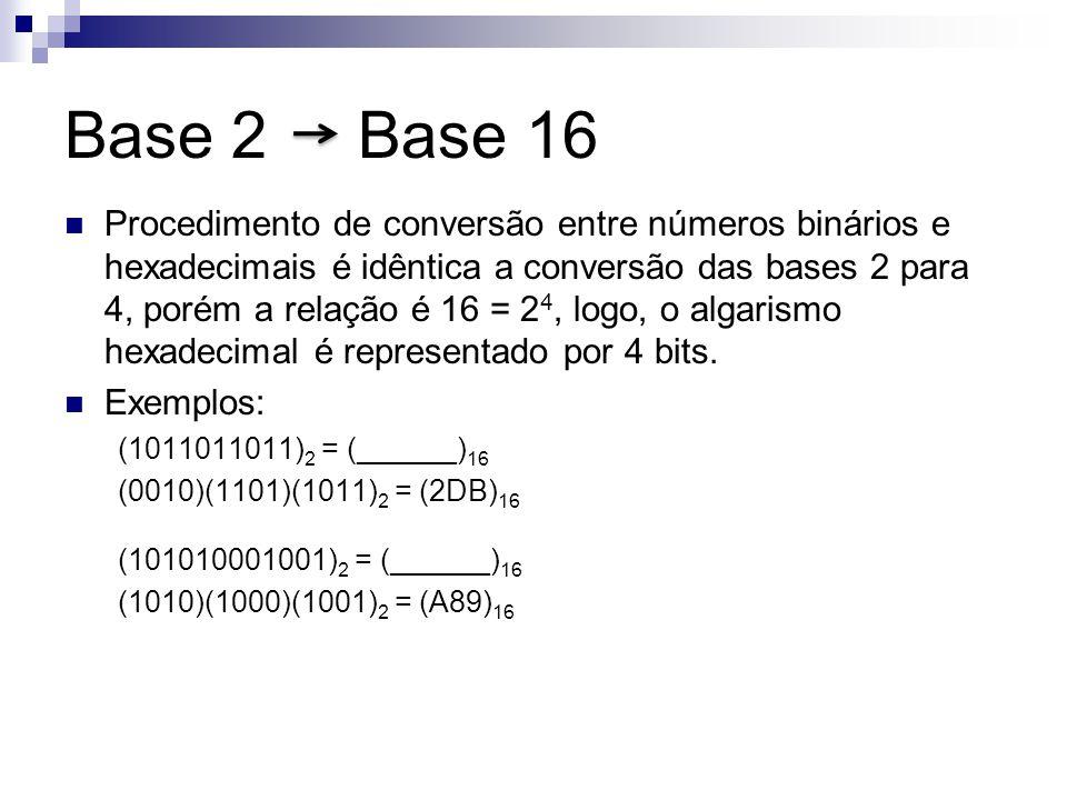 Base 2 Base 16