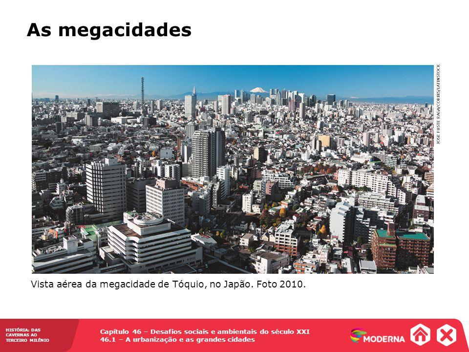 As megacidades Vista aérea da megacidade de Tóquio, no Japão.