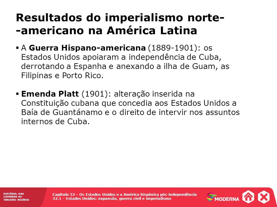Resultados do imperialismo norte--americano na América Latina