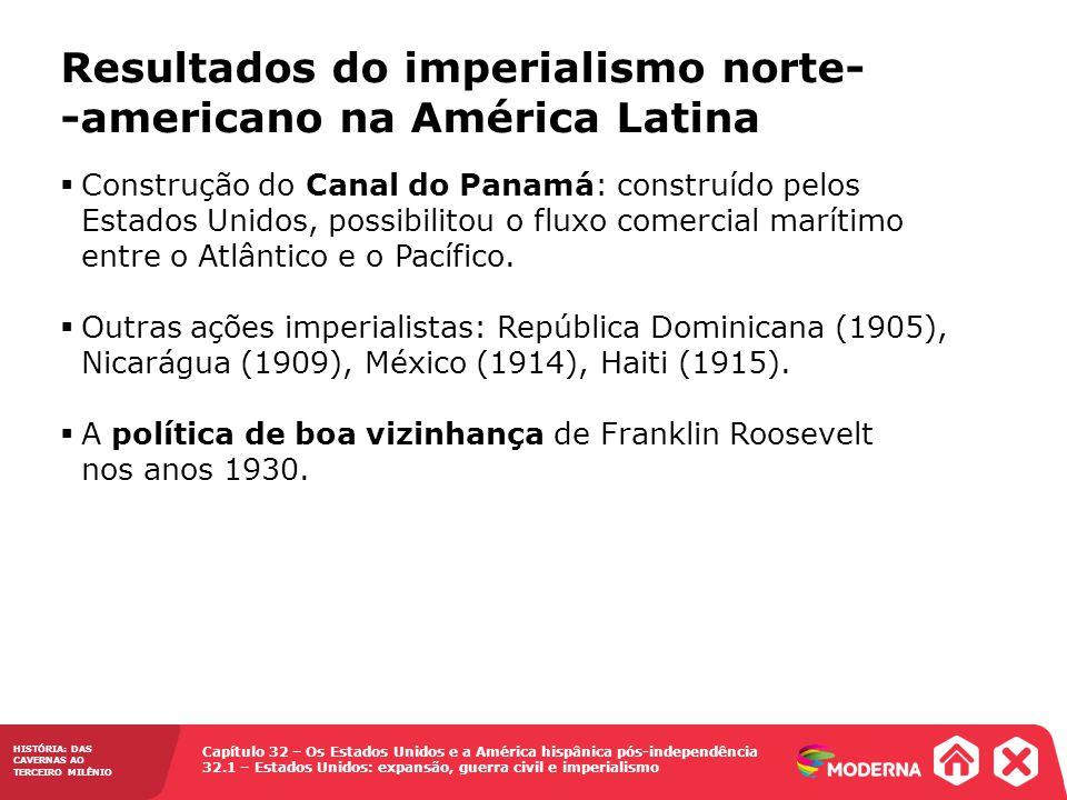 Resultados do imperialismo norte- -americano na América Latina