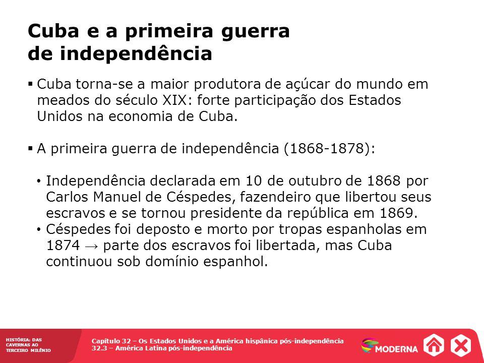Cuba e a primeira guerra de independência