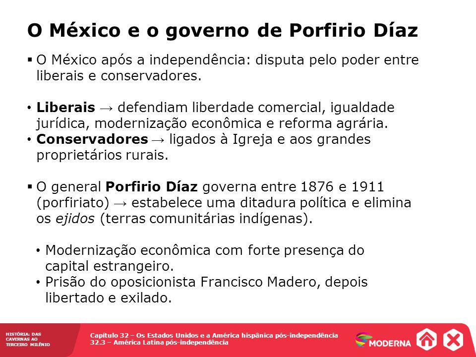 O México e o governo de Porfirio Díaz