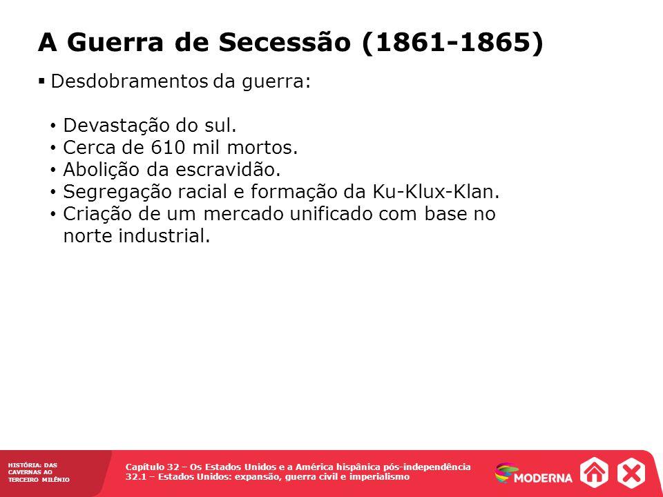 A Guerra de Secessão (1861-1865)