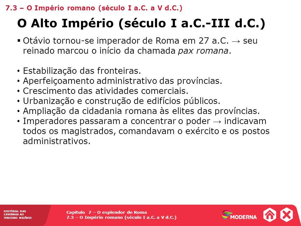 O Alto Império (século I a.C.-III d.C.)