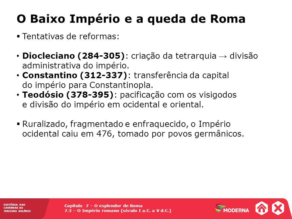 O Baixo Império e a queda de Roma